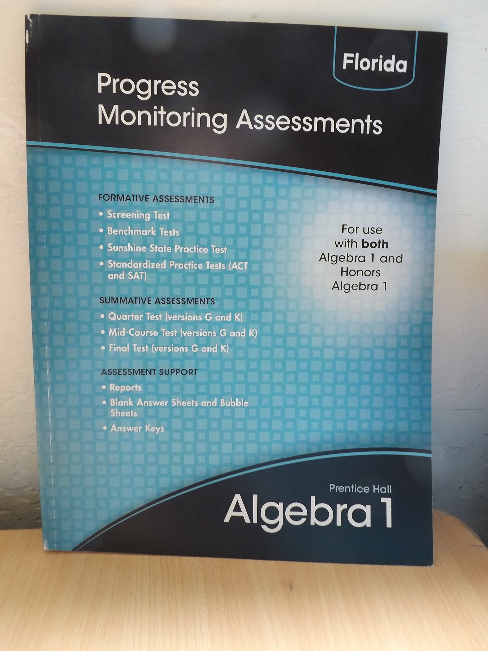 Progress Monitoring Assessments (Prentice Hall Algebra 1): Prentice ...