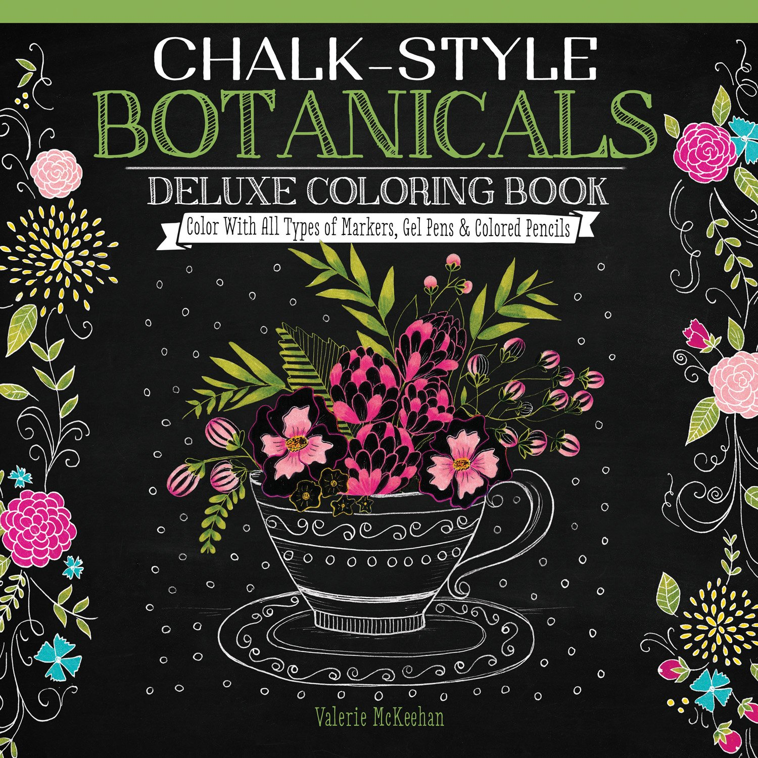 Download Chalk-Style Botanicals Deluxe Coloring Book: Color with All Types of Markers, Gel Pens & Colored Pencils (Design Originals) ebook
