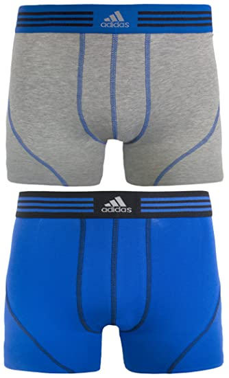 32e14a737737 Amazon.com : adidas Men's Athletic Stretch Cotton Trunk Underwear (2-Pack)  : Athletic Underwear : Sports & Outdoors
