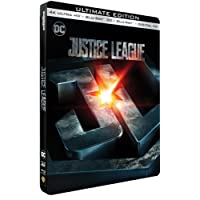 Justice League - Edition limitée Steelbook - 4K Ultra HD + Blu-Ray 3D + 2D - DC COMICS