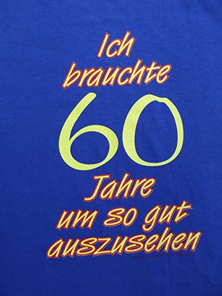 Anvil Sprüche - Camiseta para 60 cumpleaños, Color Blau mit ...