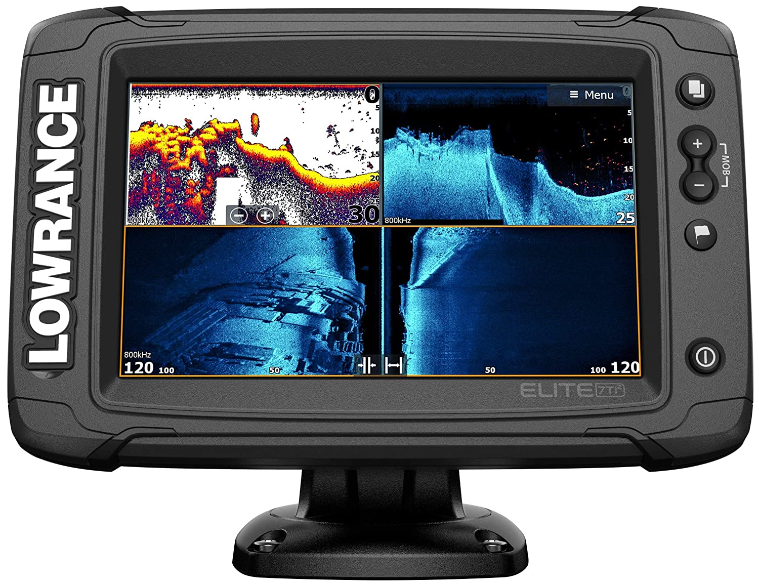 Lowrance Elite-7 Ti2-7-inch Fish Finder with HDI Transducer, Wireless  Networking, Real-Time Map Creation