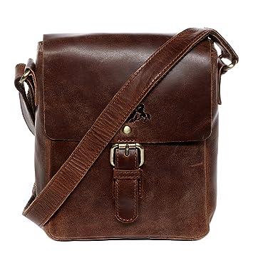 0618e6814f0a5 SID   VAIN Umhängetasche Leder Yale klein Messenger Bag Unisex ipad Zoll  Laptop Schultertasche echte Ledertasche
