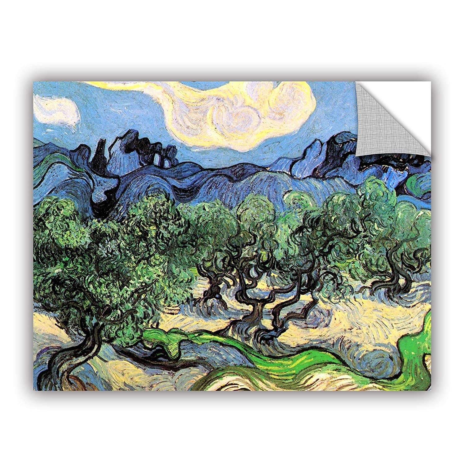 ArtWall Vincent Vangoghs Olive Tress in a Mountainous Landscape Art Appealz Removable Graphic Wall Art 18 by 24-Inch