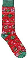 Star Wars Ugly Sweater Pattern Men's Crew Christmas Socks Shoe Size 6-12