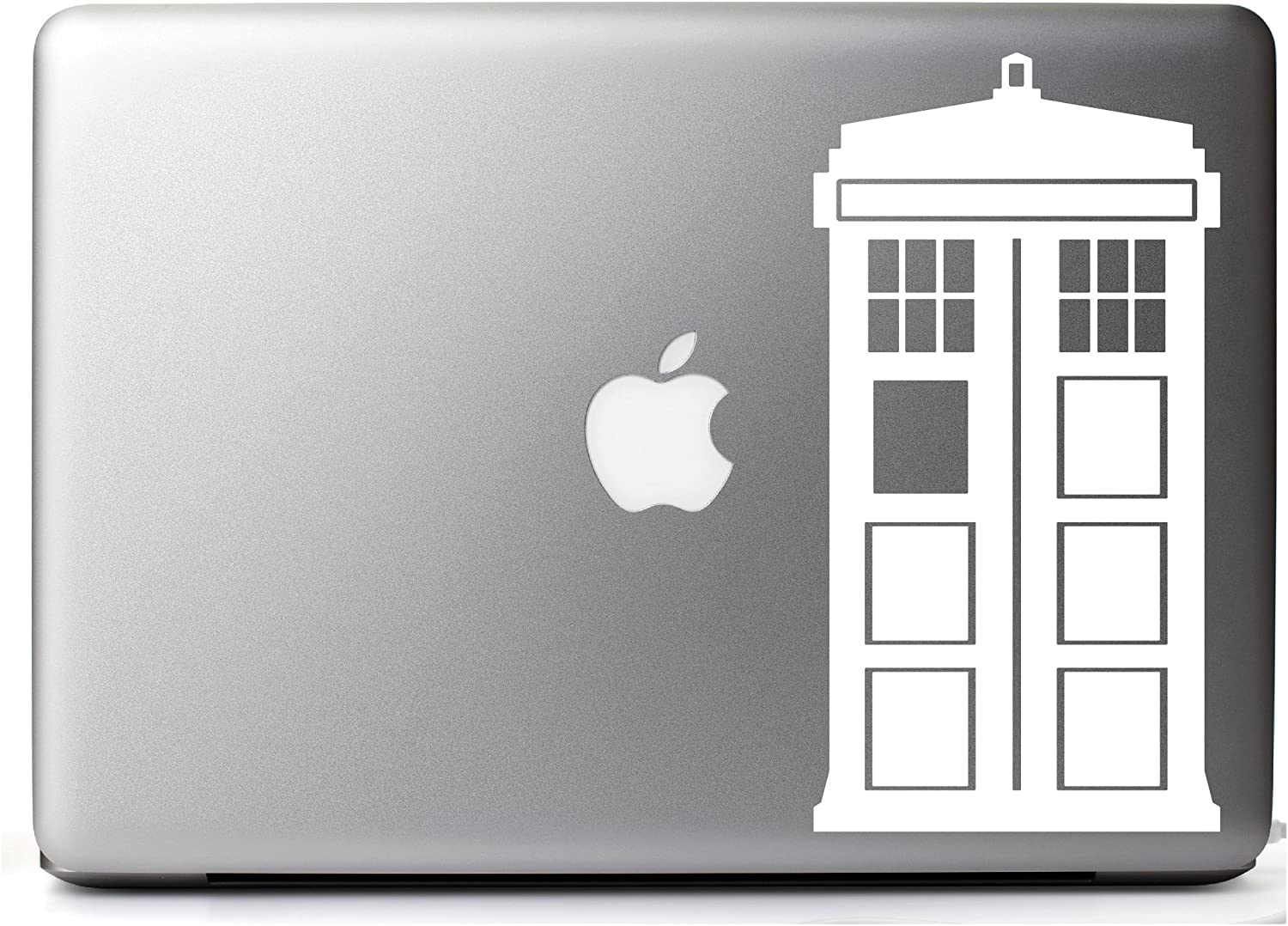 Yoonek Graphics Doctor Who Tardis Decal Sticker 531 6, White
