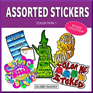 """COLORING BROADWAY Stickers 