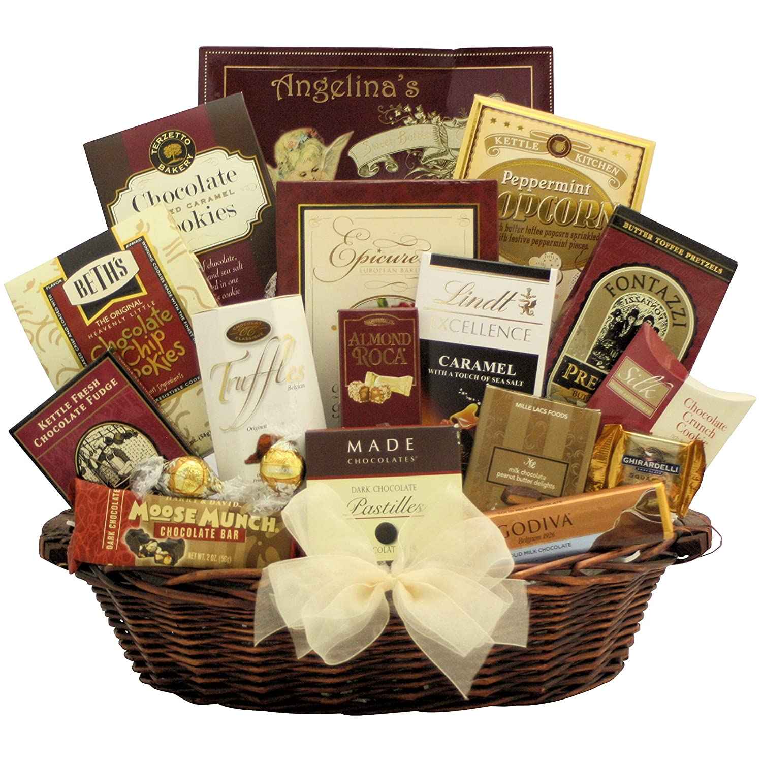 CDM product GreatArrivals Gift Baskets Peace & Prosperity Large Chocolate Holiday Christmas Gift Basket, 4.08 Kg big image