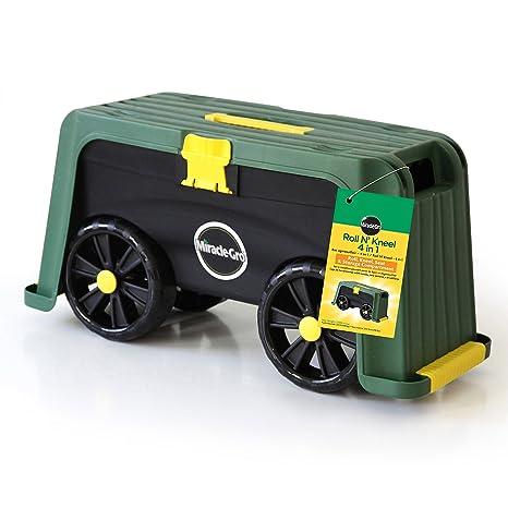 Miracle-Gro 4-in-1 Garden Stool – Multi-Use Garden Scooter