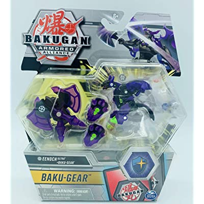 Bakugan Ultra, Darkus Eenoch with Transforming Baku-Gear, Armored Alliance 3-inch Tall Collectible Action Figure…: Toys & Games