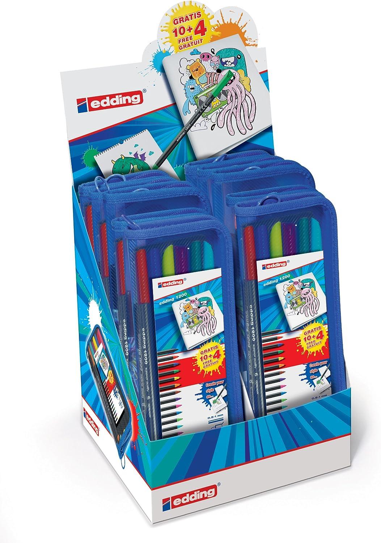 Edding 4-51009 - Rotuladores de colores (10 estuches por caja, 185 x 213 x 205 mm): Amazon.es: Oficina y papelería