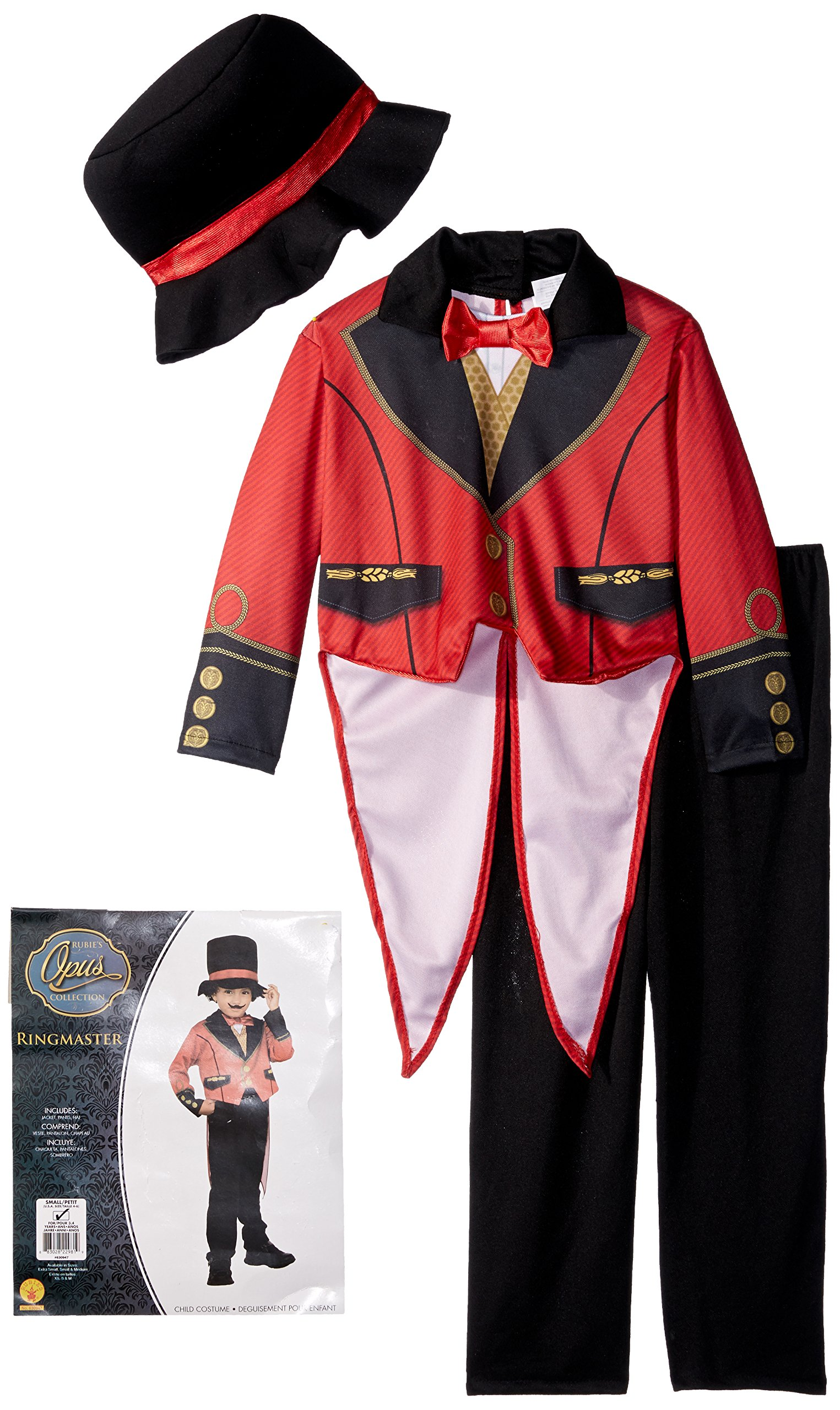 Rubies Costume Child's Ringmaster Costume, Small, Multicolor