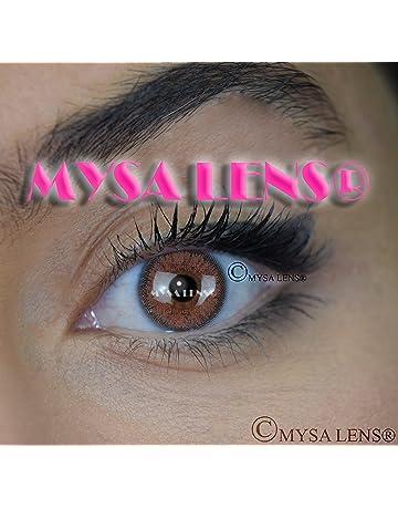 MYSA LENS® Lentilles De Contact De Couleur Fantaisie Crazy Lens Cosplay  Yeux Marron H- 7114b4d41951