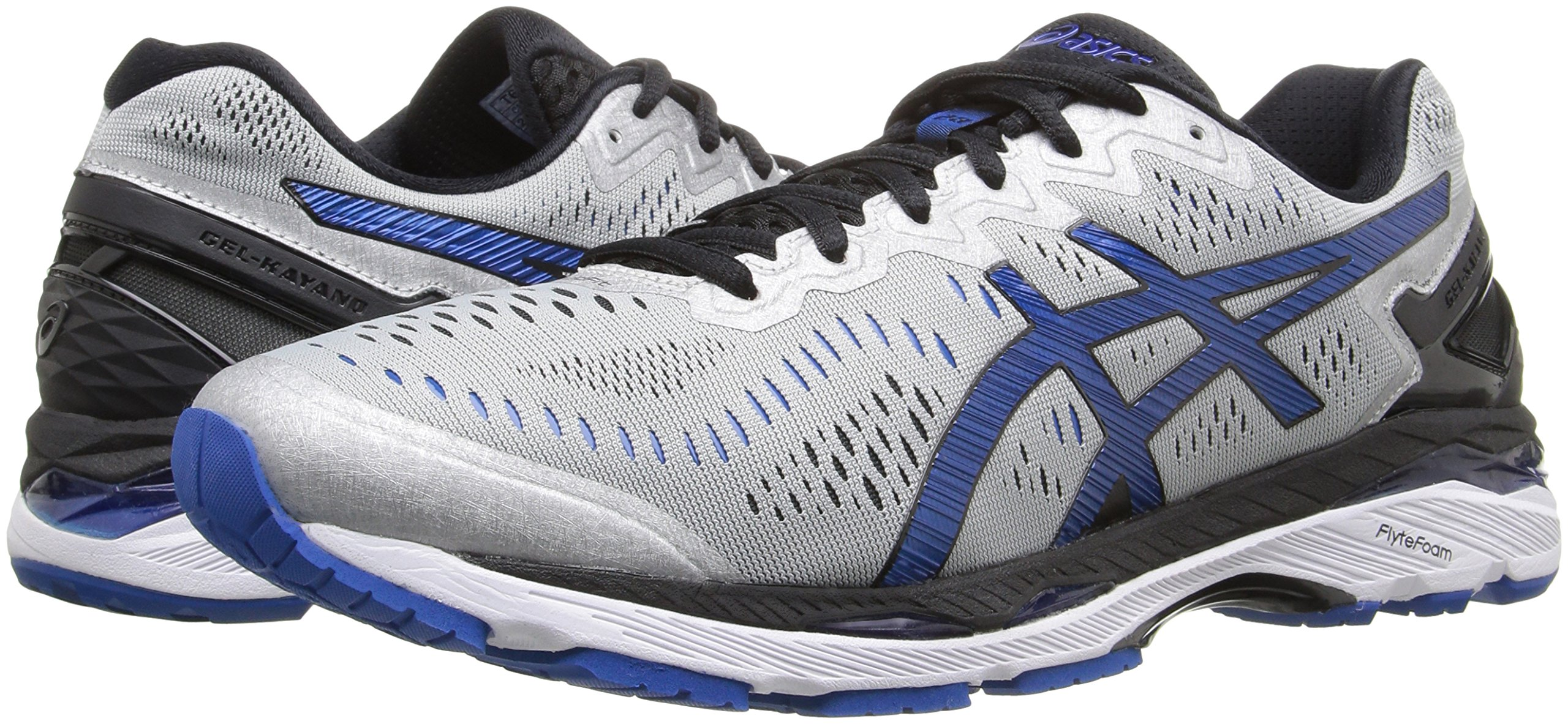 Asics Men S Gel Kayano  Shoe Silver Imperial Black