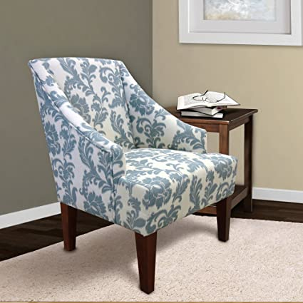 Amazon.com: Armen Living LC2988CLGR IKat Accent Chair In Ikat Slate Fabric  And Brown Wood Finish: Kitchen U0026 Dining