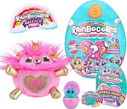 Amazon.com: Rainbocorns - Plush Sparkle Heart Surprise Series 2 - Lion: Toys & Games