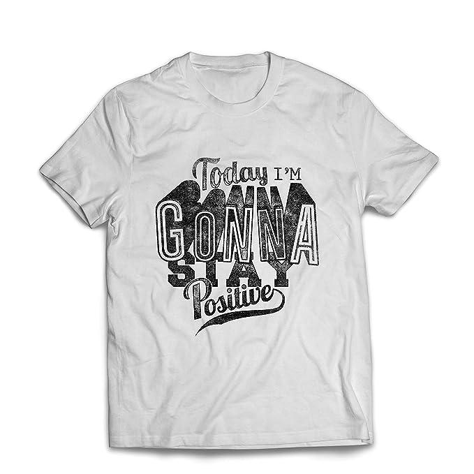 lepni.me Camisetas Hombre ¡Hoy voy a Permanecer Positivo! - Citas significativas Sobre la Vida, Refranes edificantes, Frases positivas: Amazon.es: Ropa y ...