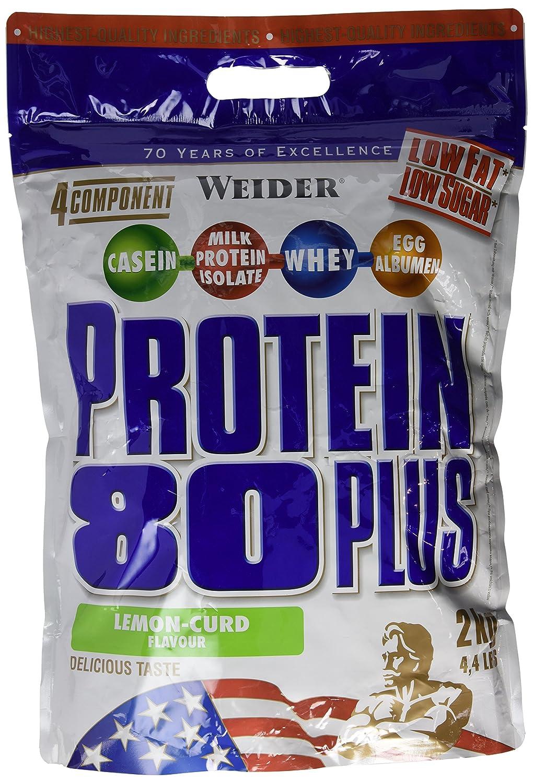 Weider Protein 80 Plus Queso Fresco Limón - 2000 gr: Amazon.es: Salud y cuidado personal