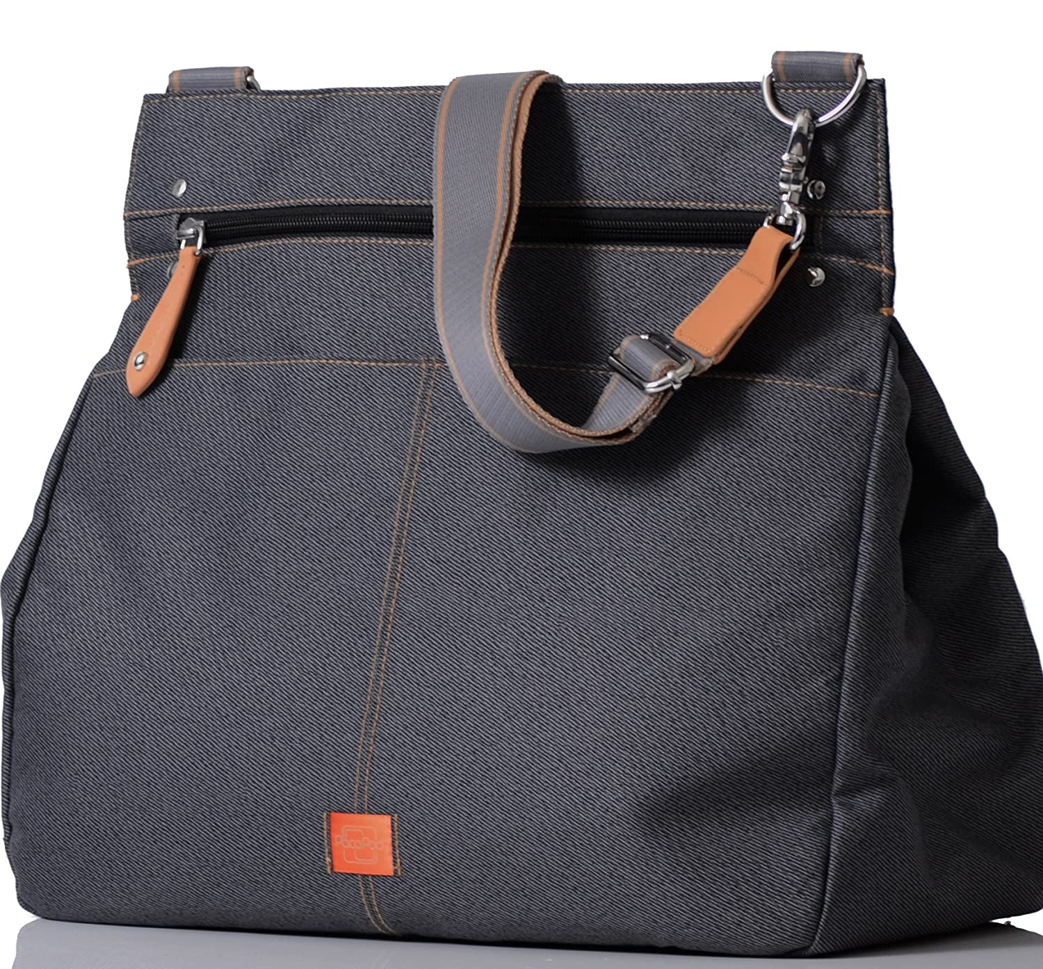 PacaPod Oban Black Charcoal Designer Baby Changing Bag - Luxury Black Messenger 3 in 1 Organising System with Convertible Backpack Straps