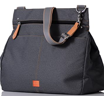 0d15200149704 Amazon.com : PacaPod Oban Black Charcoal Designer Baby Diaper Bag - Luxury  Grey Messenger 3 in 1 Organising System With Convertible BackPack Straps .