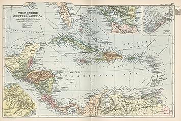 Amazon world atlas map west indies 42 1892 historic antique world atlas map west indies 42 1892 historic antique vintage map reprint gumiabroncs Image collections
