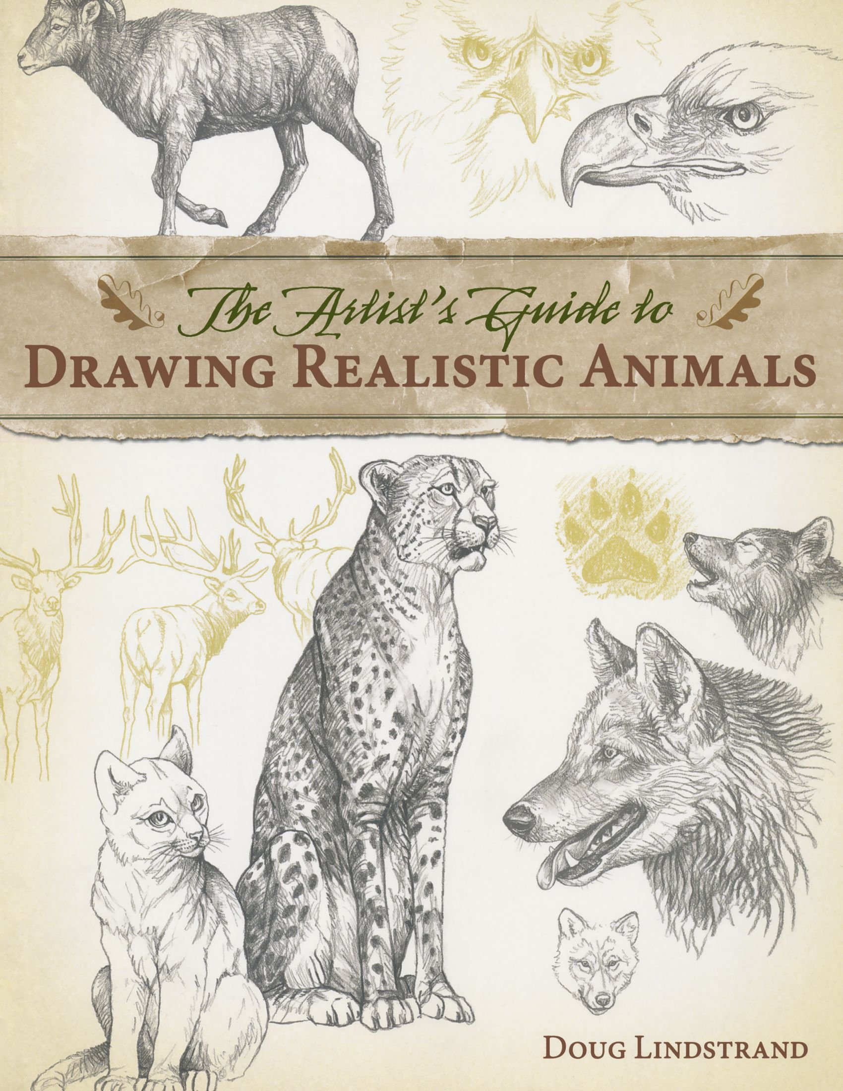 The artists guide to drawing realistic animals doug lindstrand 0035313334009 amazon com books