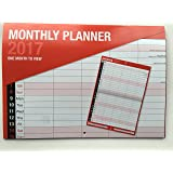 2017 Large Month To View Bound Wall Planner Calendar - Home Office Work