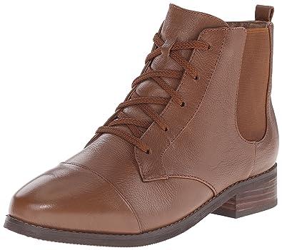 Softwalk Womens Cognac Boots Leather Miller