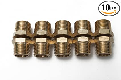 """Pack of 10 New Brass Pipe Cap Fittings 1//2/"""" NPT Air Fuel Water Boat"""