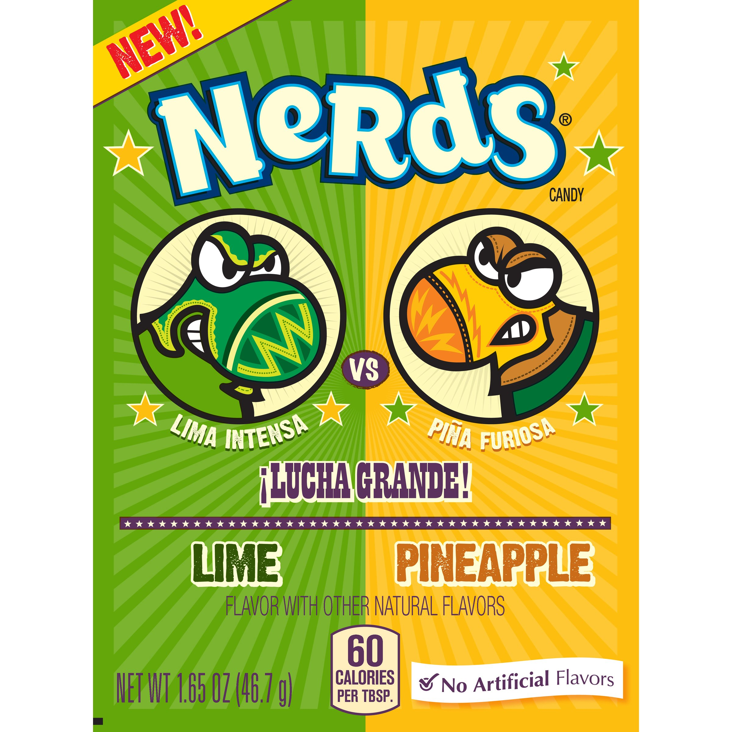 Nerds Dulceria Lime and Pineapple Candy 1.65 Ounce Box, 24 Count by Nerds
