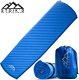 Premium Self Inflating Sleeping Pad w/ FREE Emergency Blanket - Lightweight, Insulated, Compact, Durable & Water Resistant. Comfortable for Camping, Backpacking or Hiking.