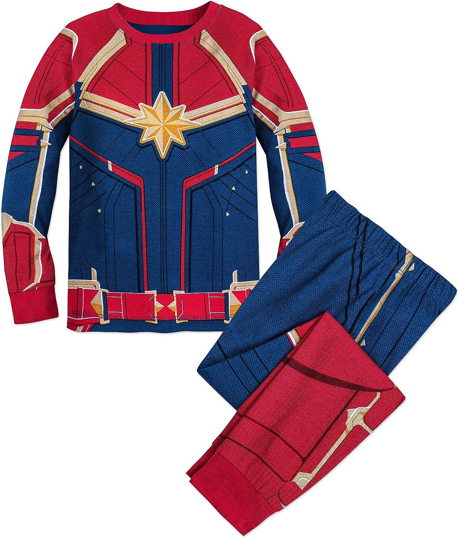 CAPTAIN MARVEL Long Johns Pajamas Sleep Set! Hanna Andersson Marvel Kids US 3