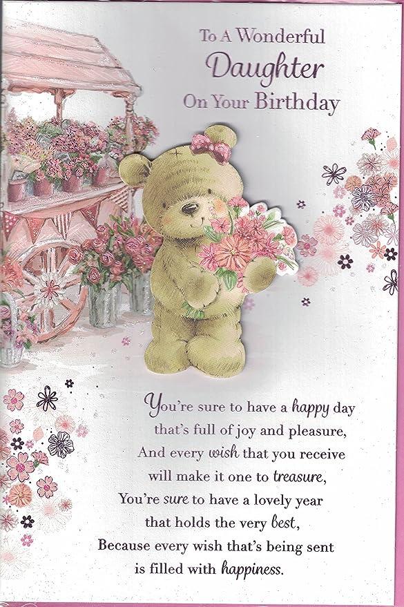 Tarjeta de cumpleaños~hija A una hija con amor feliz ...
