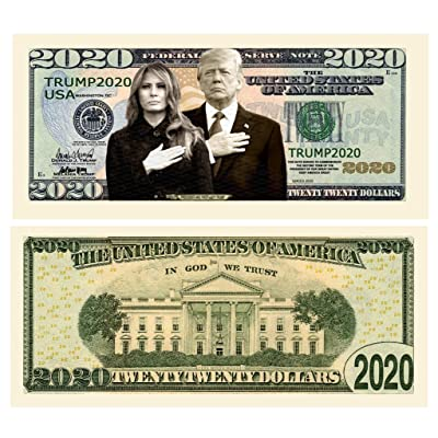Pack of 5 - Donald and Melania Trump 2020 Re-Election Presidential Dollar Bill - Limited Edition Novelty Dollar Bill - Keep America Great - Best Gift for Lovers of Donald and Melania Trump: Toys & Games