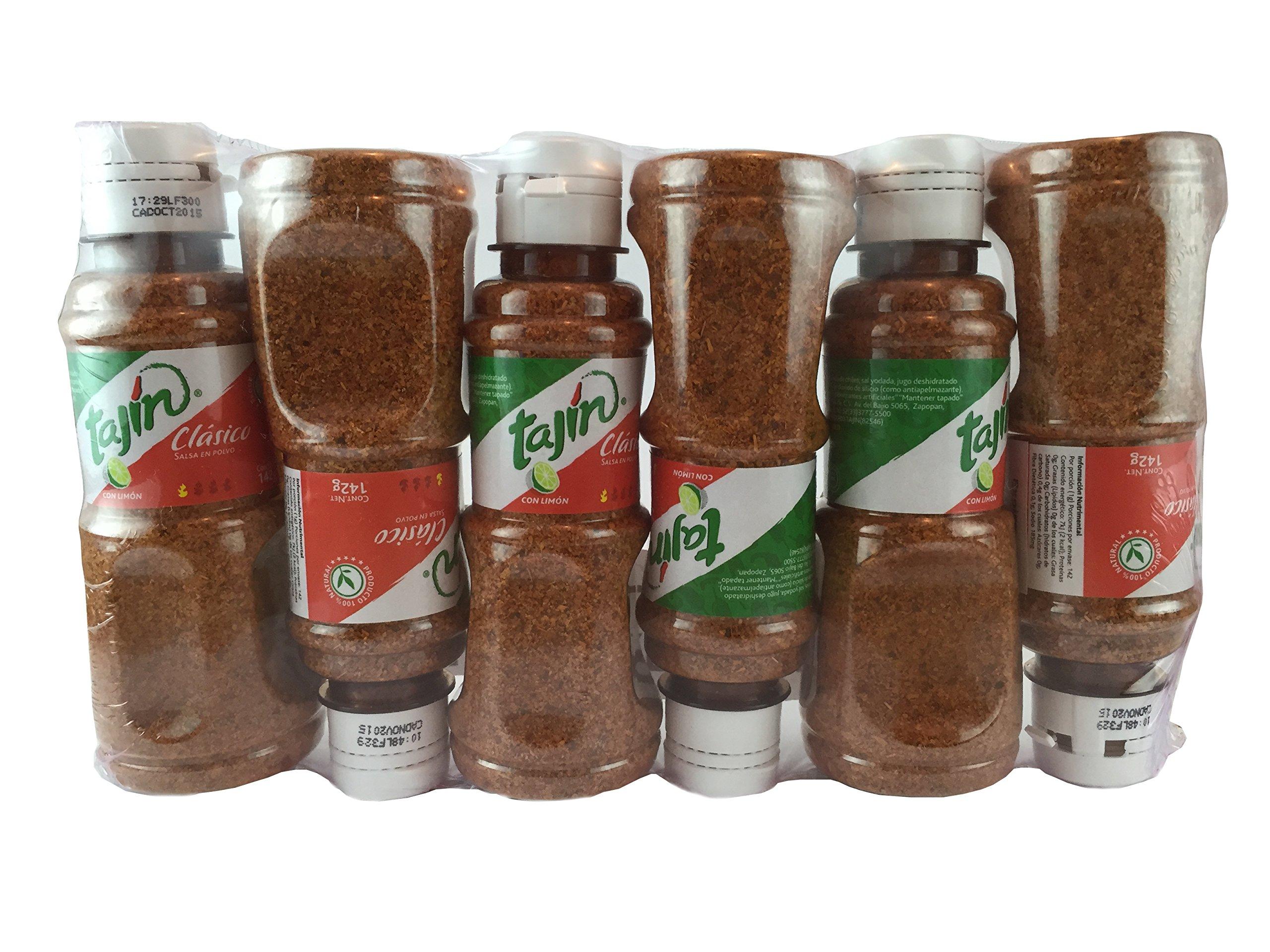 Tajin Clasico Fruit Seasoning with Lime, 5oz Bottle (Pack of 6)