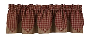 "Sturbridge Lined Point Valance - Wine (72"" wide x 15"" long)"