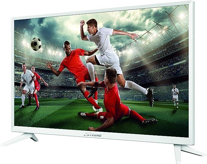 STRONG SRT 24HZ4003 NW - Televisores LED HD 24 Pulgadas, 60 cm, triple tuner (HDMI, Hotel Mode), blanco: Amazon.es: Electrónica