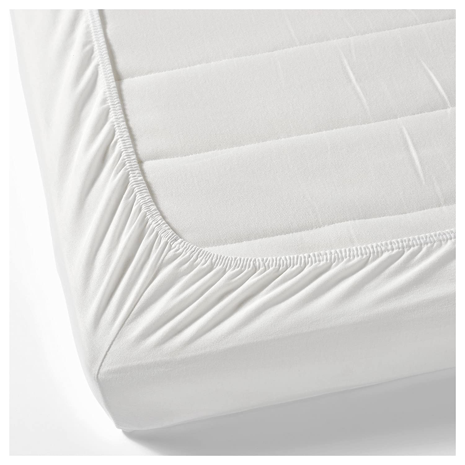 White Single Ply 500TC 100% Egyptian Cotton Sheet Fitted (Queen) Montebello