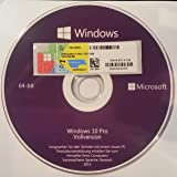 Windows 10 Pro DVD 64Bit Vollversion OEM Produck Key Lizenz + Aufkleber
