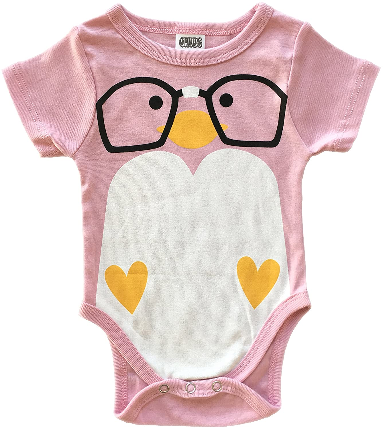 aa54d590a Amazon.com: CHUBS Nerd Bird, Unique Baby Onesies, Baby Products Made in The  USA: Clothing