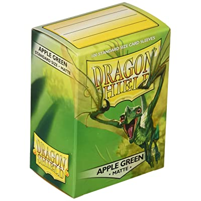 Dragon Shield Sleeves Matte Apple Card Game, Green - AT-11018: Toys & Games