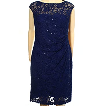 2552e9b4bb7 Lauren Ralph Lauren Women s Petite Sequined Lace Sheath Dress at Amazon  Women s Clothing store