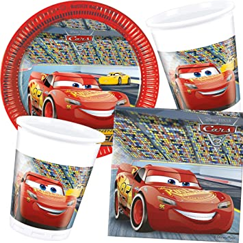 37 piezas Party * Cars III * con plato + taza + Servilletas ...
