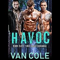 Havoc: MMM First Time Biker Romance (English Edition)