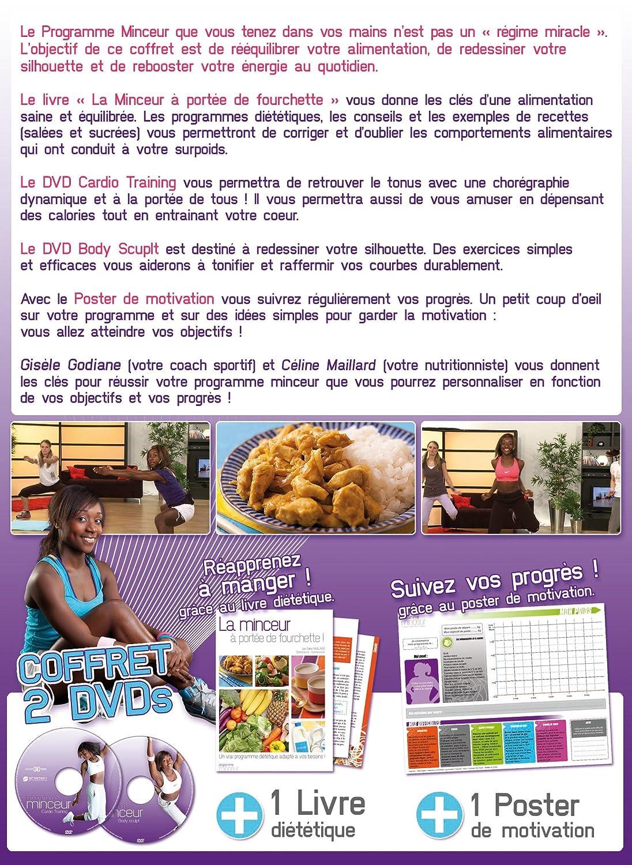 Bien-aimé Programme minceur - Coffret double DVD + Livre: Amazon.fr: Gisèle  KM32