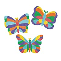 Mosaic Butterfly Sand Art Pictures - Crafts for Kids and Fun Home Activities