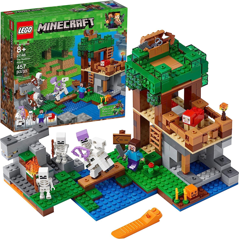 Amazon Com Lego Minecraft The Skeleton Attack 21146 Building Kit 457 Piece Toys Games
