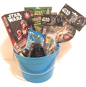 Disney Star Wars Easter Holiday Gift Basket or Birthday Basket - Puzzle, Coloring Book,