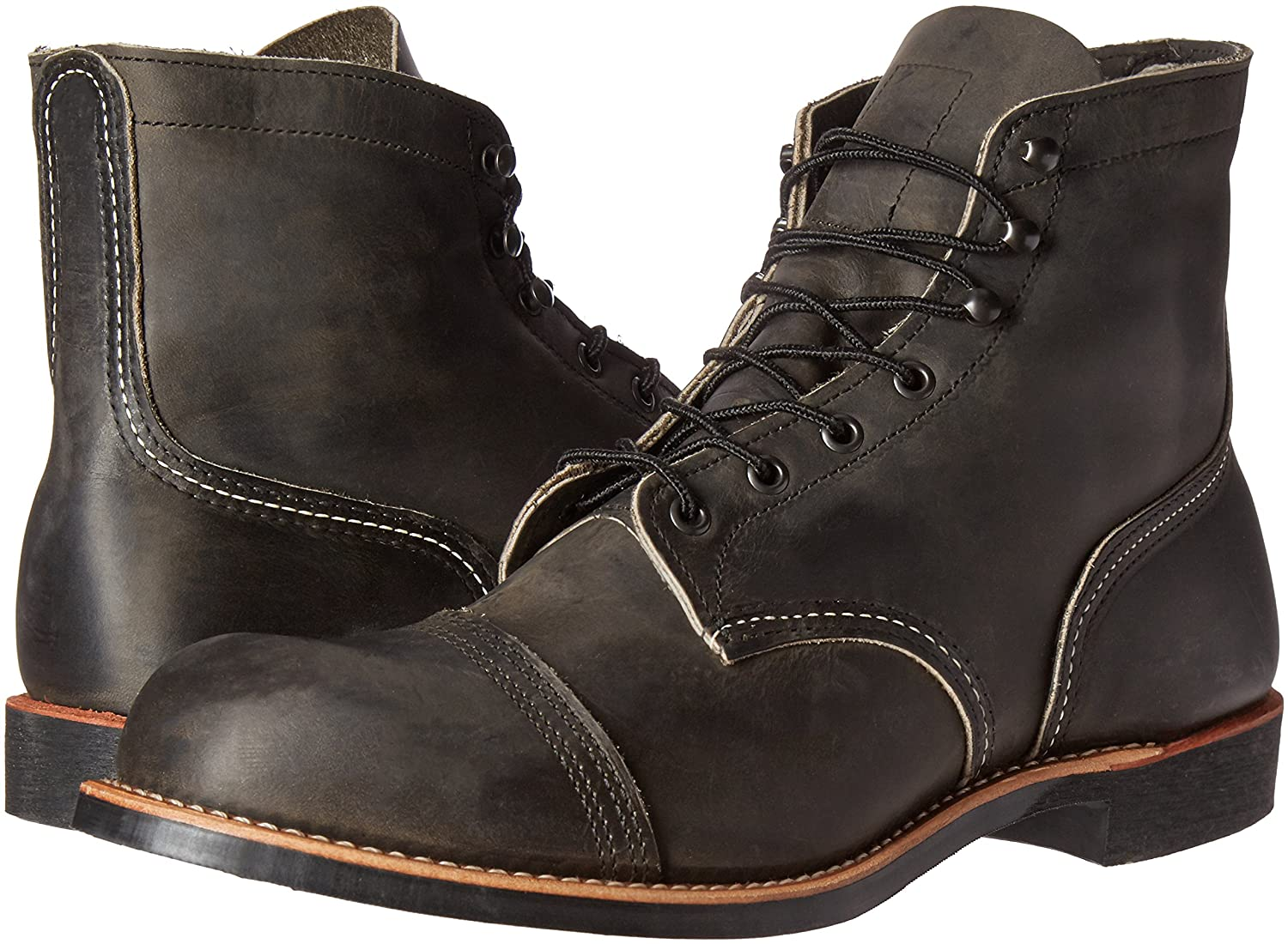 Red Wing Mens Iron Ranger 8086 Leather Boots, Charcoal, 11.5