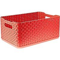 Caixa Organizadora Rattan N°3, 4.5l, Flamingo, Arthi